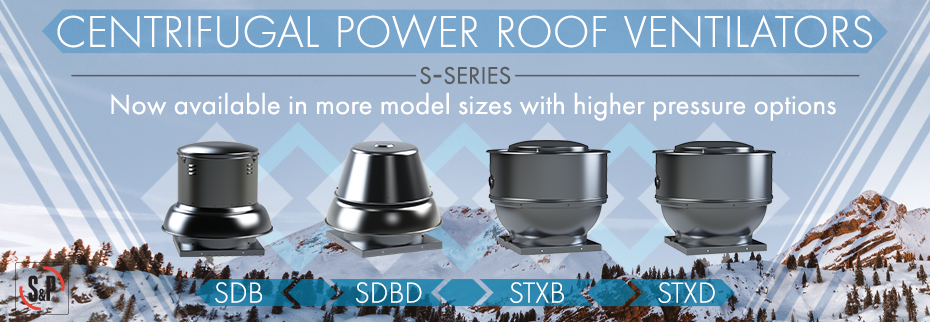 Centrifugal Power Roof Ventilators