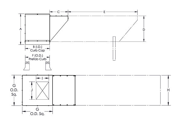 Intake Extension Dimensional Drawing